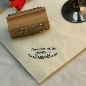 Christmas At The… Personalised Hosting Stamp - cards & wrap