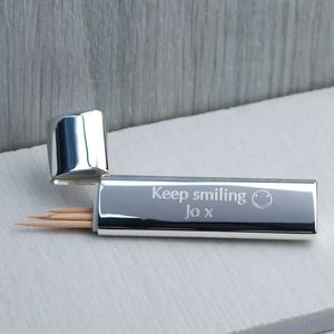 Personalised Silver Toothpick Holder - home sale