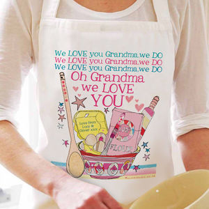 Personalised 'Love You' Grandma Apron - kitchen