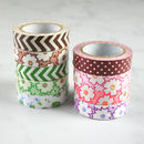 Flower Print Fabric Patterned Tape