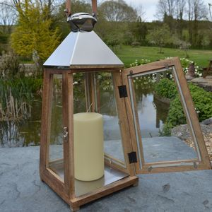 Wooden Candle Lantern - lights & lanterns