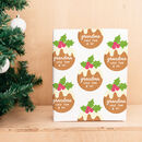 Personalised Christmas Pudding Wrapping Paper