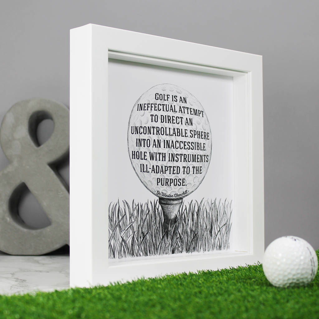 Golf Is Ineffectual Funny Quote Print By Wit Wisdom