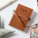 Personalised Mini Pocket Leather Journal/Notebook