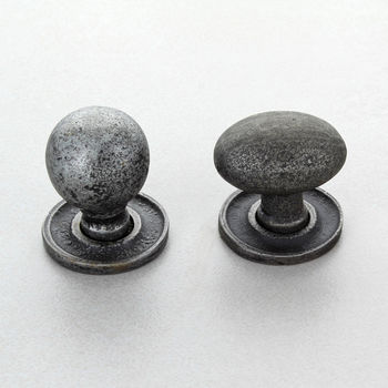 Oval And Round Pewter Cupboard Knobs Drawer Handles