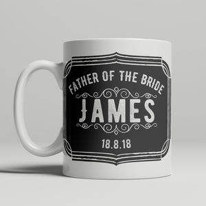 Father Of The Bride Personalised Mug