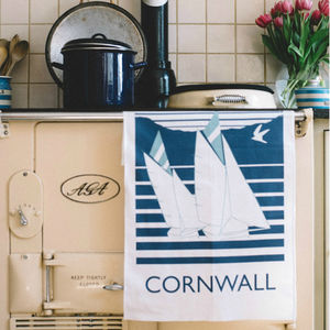 Cornwall Nautical Tea Towel