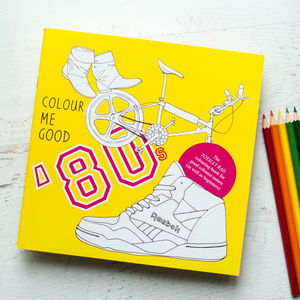80's Colouring Book By Colour Me Good