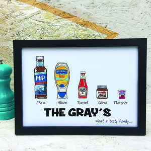 Personalised Tasty Family Print