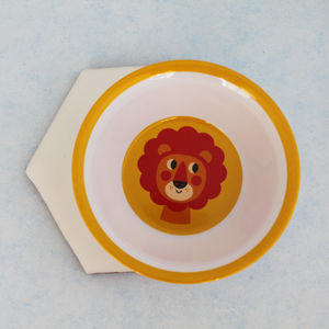Retro Yellow Lion Melamine Bowl - chopping boards