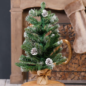 60cm Artificial Christmas Tree With Jute Base