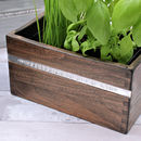 Personalised Stamped Text on Herb Planter
