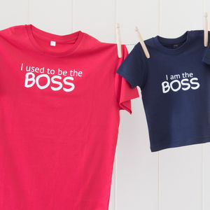 Parent And Child 'Boss' T Shirt Set - gifts under £50