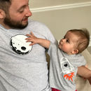 Daddy And Baby Glow In The Dark T Shirt Set