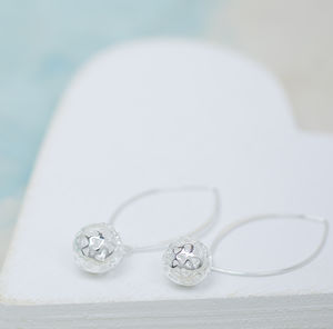 Lacey Heart Silver Earrings - summer sale