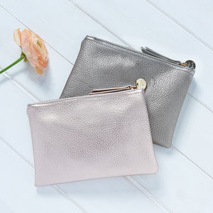 Personalised Metallic Make Up Bag - bags