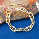 Anchor Chain Bracelet With T Bar Clasp