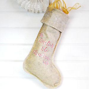 Personalised Baby's 1st Christmas Stocking