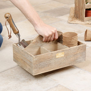 Personalised Wooden Luxury Gardening Caddy
