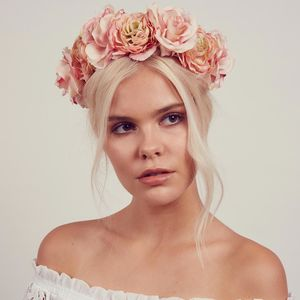 Blossom Floral Rose Crown Headband - festival season