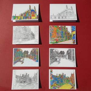 Set Of Artistic Greetings Cards