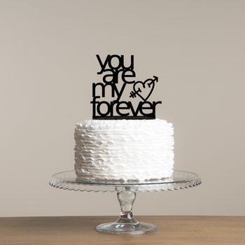 You Are My Forever Romantic Wedding Cake Topper Set