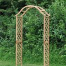 The Dorchester Wooden Garden Arch With Ground Spikes