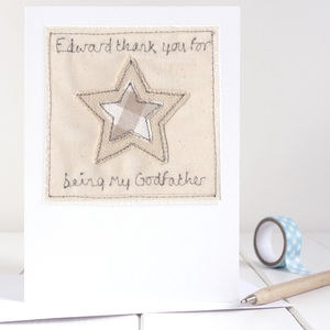 Personalised Thank You Star Card - thank you cards