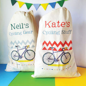 Personalised Cycling Storage Bag - home