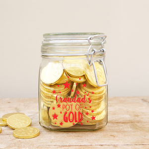 Personalised Pot Of Gold Jar - storage & organisers