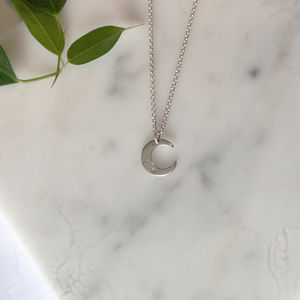 Silver Mini Moon Necklace