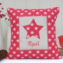 Personalised New Baby Star Cushion