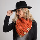 Button Cowl Crochet Kit