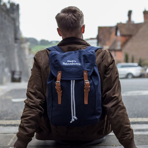 Personalised Vintage Canvas Rucksack - 18th birthday gifts