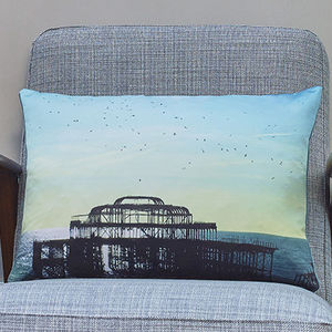 'The Birds Did It' Luxury Handmade Photo Cushion - bedroom