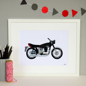 Norton Motorbike Collage Print