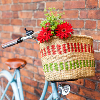 Colourful Handcrafted Bike Basket