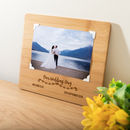 Personalised Wedding Day Bamboo Photo Board