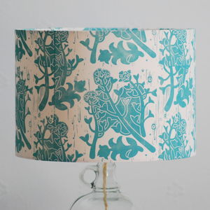 Shepherd's Purse Lampshade Block Printed By Hand - lampshades