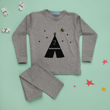 Personalised Number Kids Pyjamas