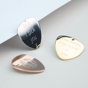 Personalised Contemporary Guitar Plectrum - gifts for him