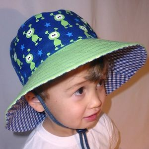 Boys Reversible Sun Hats - hats, scarves & gloves