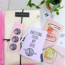 Knitting Subscription Box: Knitting Bags And Stationary
