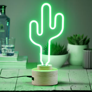 Neon Catcus Light - table lamps