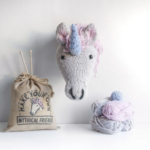 Make Your Own Faux Unicorn Knitting Kit