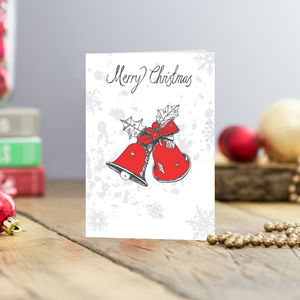 Christmas Bells Greetings Cards Pack Of Five