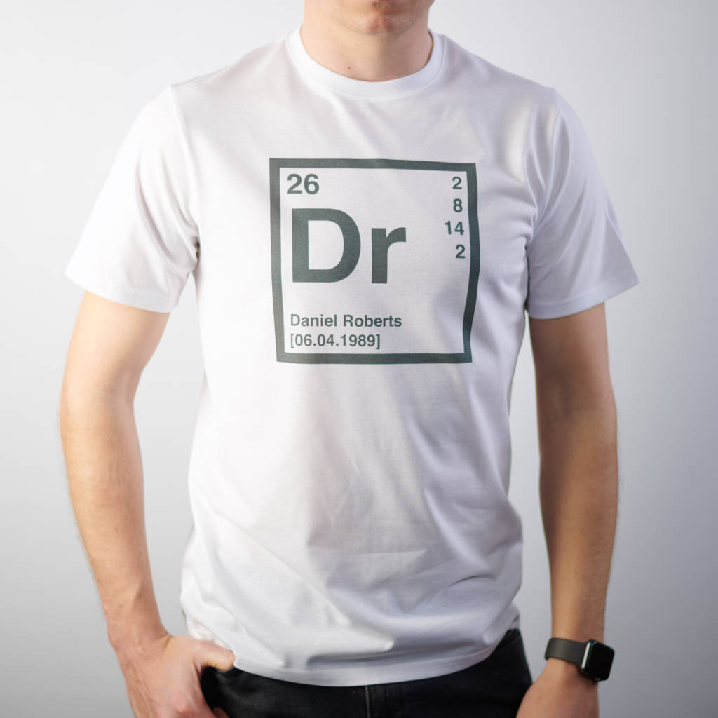 Personalised Periodic Table T Shirt By Oakdene Designs