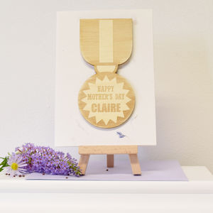 Personalised Mother's Day Medal Card