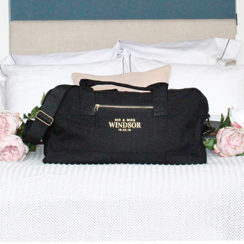 Luxury Bespoke Mr And Mrs Wedding Holdall