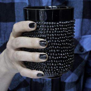 Ceramic Mug With Spikes